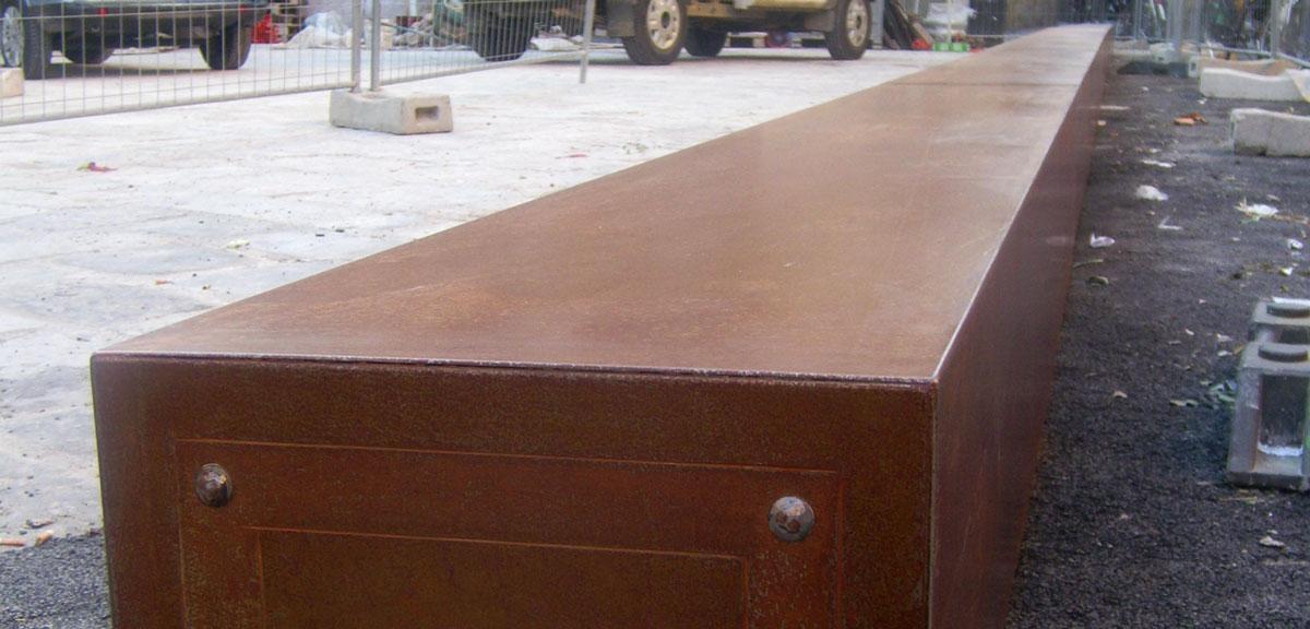 Rivestimenti in corten alluminio ferro acciaio inox e for Lamiera corten prezzo