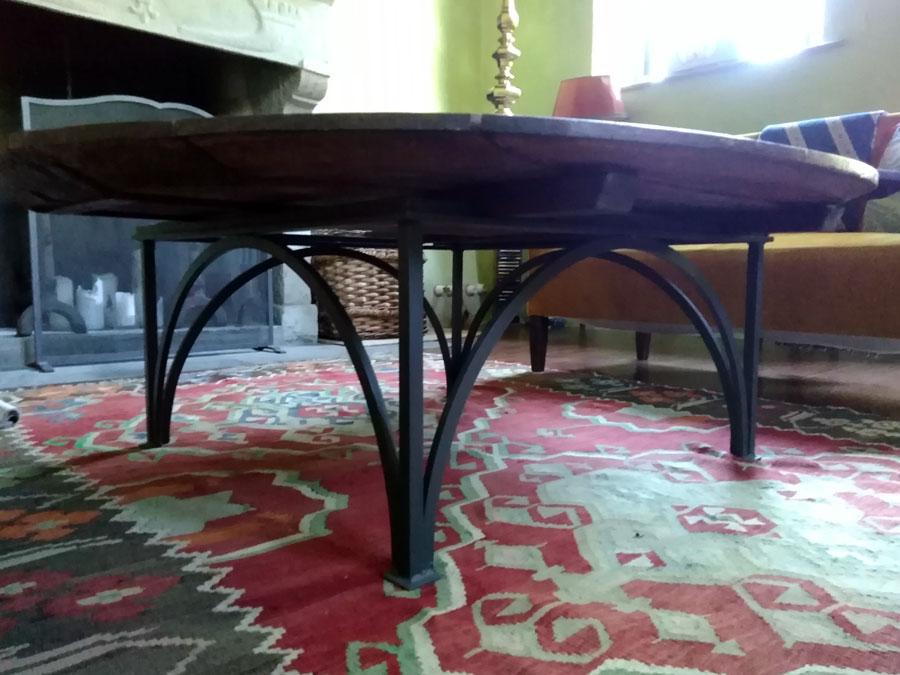Tavolo ferro e legno paolo fusi for Tavolo ferro e legno