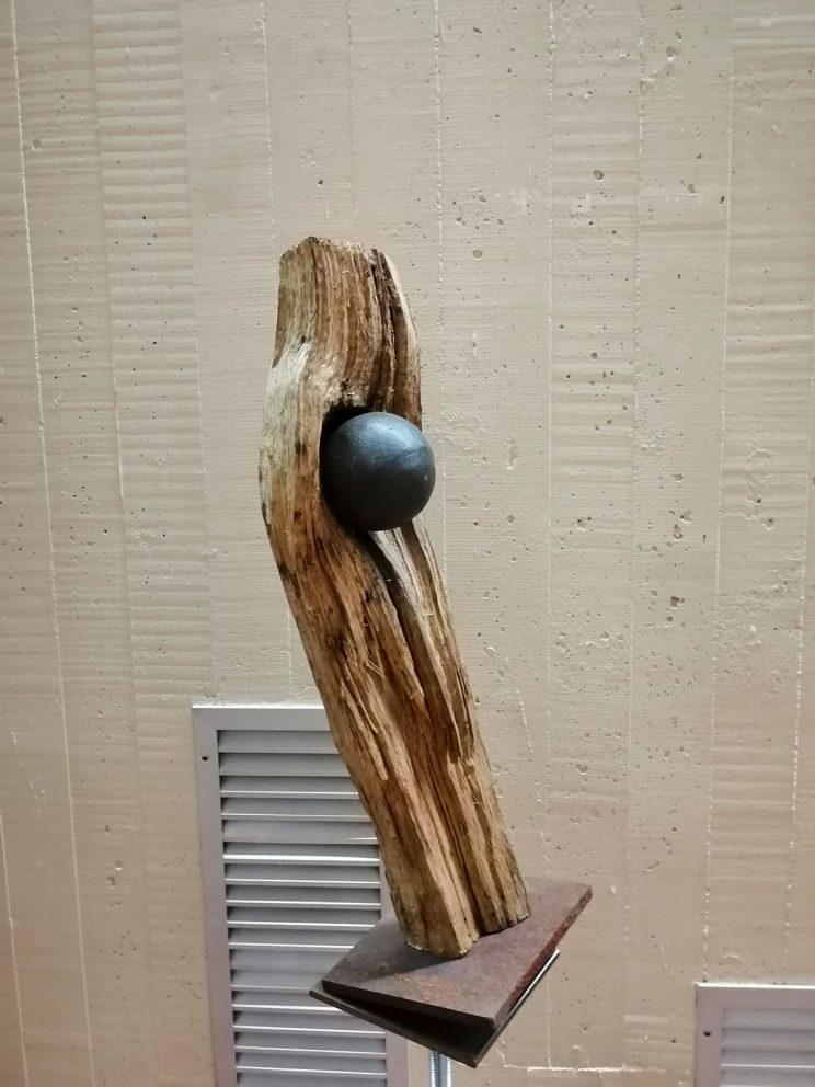 WOOD legno e acciaio H 45 L 13