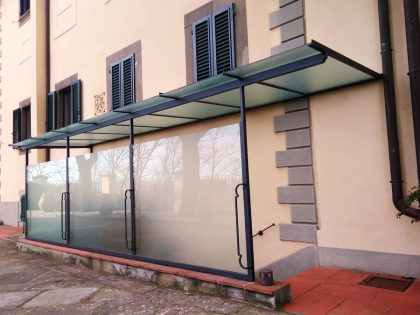 pergola vetro e ferro