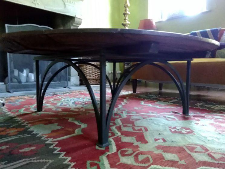 tavolo ferro e legno